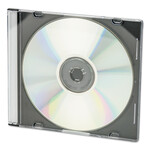 Innovera CD/DVD Slim Jewel Cases, Clear/Black, 50/Pack Product Image