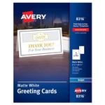 Avery Half-Fold Greeting Cards, Inkjet, 5 1/2 x 8.5, Matte White, 30/Box w/Envelopes Product Image