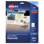 Avery Photo-Quality Glossy Postcards for Inkjet Printers, 4 1/4 x 5 1/2, White, 100/Pk Product Image