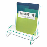 deflecto Euro-Style DocuHolder, Magazine Size, 9.81w x 6.31d x11h, Green Tinted Product Image
