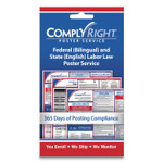 """ComplyRight Labor Law Poster Service, """"State Labor Law"""", 4w x 7h Product Image"""