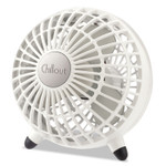 """Honeywell Chillout USB/AC Adapter Personal Fan, White, 6""""Diameter, 1 Speed Product Image"""