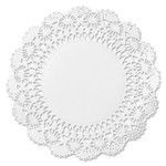 """Hoffmaster Cambridge Lace Doilies, Round, 10"""", White, 1000/Carton Product Image"""