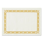 Hoffmaster Placemats, Greek Key Pattern, Paper, Gold/White, 14 x 10, 1000/Carton Product Image