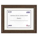 AbilityOne 7105001491281 SKILCRAFT Frame, Walnut with Gold Metallic Inlay, Wood, 11 x 14 Product Image