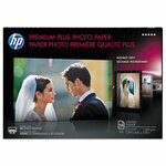HP Premium Plus Photo Paper, 11.5 mil, 11 x 17, Glossy White, 25/Pack Product Image