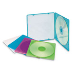 Innovera Slim CD Case, Assorted Colors, 10/Pack Product Image
