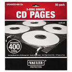 Vaultz Two-Sided CD Refill Pages for Three-Ring Binder, 50/Pack Product Image