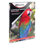 Innovera High-Gloss Photo Paper, 10 mil, 8.5 x 11, High-Gloss White, 50/Pack Product Image