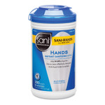 Sani Professional Hands Instant Sanitizing Wipes, 7 1/2 x 5, 300/Canister, 6/CT Product Image