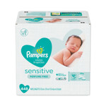 Pampers Sensitive Baby Wipes, White, Cotton, Unscented, 64/Pouch, 7 Pouches/Carton Product Image