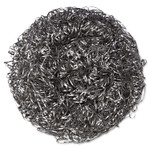Kurly Kate Stainless Steel Scrubbers, Large, Steel Gray, 12 Scrubbers/Bag, 6 Bags/Carton Product Image