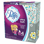 Puffs Ultra Soft Facial Tissue, 2-Ply, White, 56 Sheets/Box, 4 Boxes/Pack Product Image