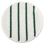 "Rubbermaid Commercial Low Profile Scrub-Strip Carpet Bonnet, 21"" Diameter, White/Green Product Image"
