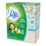 Puffs Plus Lotion Facial Tissue, 2-Ply, White, 116 Sheets/Box, 3 Boxes/Pack, 8 Packs/Carton Product Image