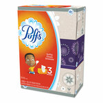 Puffs White Facial Tissue, 2-Ply, White, 180 Sheets/Box, 3 Boxes/Pack, 8 Packs/Carton Product Image