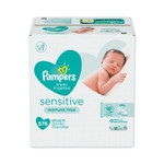 Pampers Sensitive Baby Wipes, White, Cotton, Unscented, 72/Pack, 8 Packs/Carton Product Image
