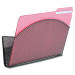 Safco Onyx Magnetic Mesh Panel Accessories, Single File Pocket, Black Product Image