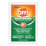 OFF! Deep Woods Towelette, 0.28 Box, Unscented, 12/Box Product Image