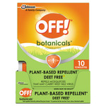 OFF! Botanicals Insect Repellant, Box, 10 Wipes/Pack, 8 Packs/Carton Product Image