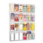 Safco Reveal Clear Literature Displays, 24 Compartments, 30w x 2d x 41h, Clear Product Image