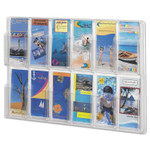 Safco Reveal Clear Literature Displays, 12 Compartments, 30w x 2d x 20.25h, Clear Product Image