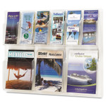 Safco Reveal Clear Literature Displays, 9 Compartments, 30w x 2d x 22.5h, Clear Product Image