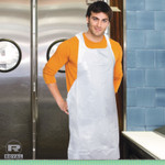 AmerCareRoyal Poly Apron, White, 28 in. x 46 in., 100/Pack, One Size Fits All, 10 Pack/Carton Product Image