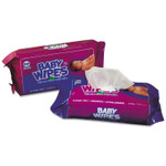 AmerCareRoyal Baby Wipes Refill Pack, Scented, White, 80/Pack, 12 Packs/Carton Product Image