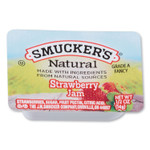 Smucker's Smuckers 1/2 Ounce Natural Jam, 0.5 oz Container, Strawberry, 200/Carton Product Image