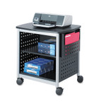 Safco Scoot Printer Stand, 26.5w x 20.5d x 26.5h, Black/Silver Product Image