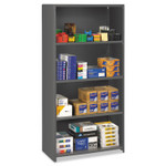 Tennsco Closed Commercial Steel Shelving, Five-Shelf, 36w x 24d x 75h, Medium Gray Product Image