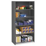 Tennsco Closed Commercial Steel Shelving, Six-Shelf, 36w x 18d x 75h, Medium Gray Product Image