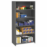 Tennsco Closed Commercial Steel Shelving, Six-Shelf, 36w x 24d x 75h, Medium Gray Product Image