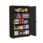 Tennsco Assembled Jumbo Steel Storage Cabinet, 48w x 24d x 78h, Black Product Image