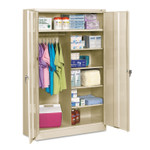 Tennsco Jumbo Combination Steel Storage Cabinet, 48w x 24d x 78h, Putty Product Image
