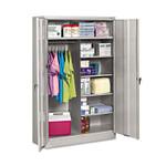 Tennsco Jumbo Combination Steel Storage Cabinet, 48w x 24d x 78h, Light Gray Product Image