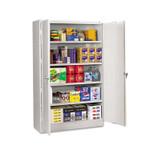 Tennsco Assembled Jumbo Steel Storage Cabinet, 48w x 24d x 78h, Light Gray Product Image