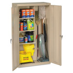 Tennsco Janitorial Cabinet, 36w x 18d x 64h, Putty Product Image