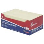 AbilityOne 7530012074356 SKILCRAFT Self-Stick Note Pads, 2 x 3, Unruled, Yellow, 100 Sheets, Dozen Product Image