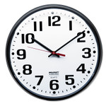 """AbilityOne 6645013897944 SKILCRAFT Slimline Quartz Wall Clock, 12.75"""" Overall Diameter, Black Case, 1 AA (sold separately) Product Image"""
