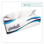 Windsoft Facial Tissue, 2 Ply, White, Pop-Up Box, 100 Sheets/Box, 6 Boxes/Pack Product Image