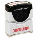 AbilityOne 7520014195949 SKILCRAFT Pre-Inked Message Stamp, CONFIDENTIAL, Red Product Image