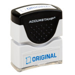 AbilityOne 7520012074222 SKILCRAFT Pre-Inked Message Stamp, ORIGINAL, Blue Product Image