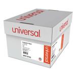 Universal Printout Paper, 2-Part, 15lb, 14.88 x 11, White/Green Bar, 1, 650/Carton Product Image