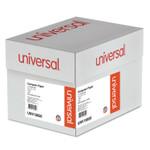 Universal Printout Paper, 1-Part, 15lb, 14.88 x 11, White/Green Bar, 3, 000/Carton Product Image