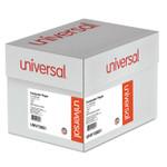 Universal Printout Paper, 1-Part, 18lb, 14.88 x 11, White/Green Bar, 2, 600/Carton Product Image