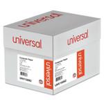 Universal Printout Paper, 1-Part, 20lb, 14.88 x 11, White/Blue Bar, 2, 400/Carton Product Image