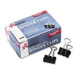AbilityOne NSN2828201 SKILCRAFT Binder Clip, Small, Black/Silver, Dozen Product Image