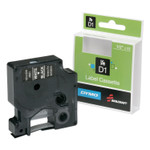 "AbilityOne 7510016576748, Dymo/SKILCRAFT Label Cassette, 0.5"" x 23 ft, White/Black Product Image"